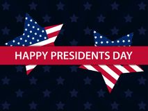 Happy Presidents Day. Festive illustration for greeting card and poster. Usa flag. Typography design. Vector Royalty Free Stock Images