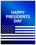 Happy Presidents Day. Festive illustration for greeting card and poster. Usa flag. Typography design. Vector Stock Photos