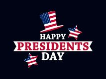 Happy Presidents Day. Festive illustration for greeting card and poster. Usa flag. Typography design. Vector Stock Photography