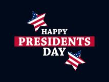 Happy Presidents Day. Festive illustration for greeting card and poster. Usa flag. Typography design. Vector Stock Photo