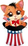 Happy Presidents Day kitten Stock Image