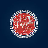Happy Presidents' Day lettering Stock Photo
