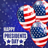 Happy Presidents Day. Presidents day banner illustration design with american flag. Stock Images