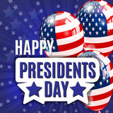 Happy Presidents Day. Presidents day banner illustration design with american flag. Royalty Free Stock Images
