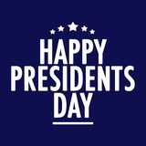 Happy Presidents Day Text vector illustration