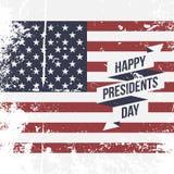 Happy Presidents Day USA grunge Flag Background Stock Image
