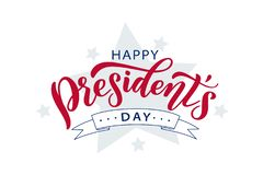 Happy Presidents day. Vector illustration. Hand drawn text lettering stock photo