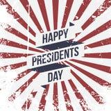 Happy Presidents Day vector Ribbon and Text Stock Photo