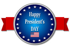 Happy Presidents day. On white background Stock Images