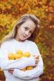 Happy preteen girl Stock Images