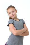 Happy preteen girl Stock Images
