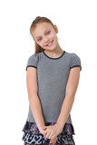 Happy preteen girl Stock Photos