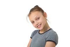 Happy preteen girl Royalty Free Stock Photo