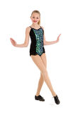 Happy Preteen Tap Dancer Posing Royalty Free Stock Photography