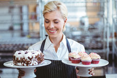 Happy pretty blonde Royalty Free Stock Image