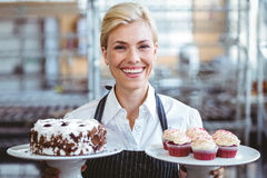 Happy pretty blonde Stock Images