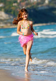Happy pretty girl on the beach Royalty Free Stock Photos