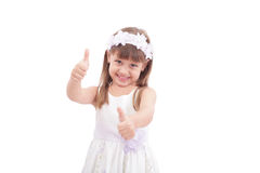 Happy pretty girl with thumbs up Royalty Free Stock Photo