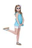 Happy pretty little girl stock image