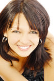 Happy pretty smilimg brunette Royalty Free Stock Photography