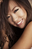 Happy pretty smiling Asian woman Stock Images