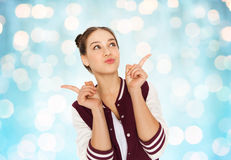 Happy pretty teenage girl Royalty Free Stock Images
