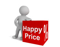 Happy Price Stock Images