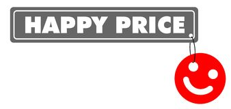 Happy price. Vector illustration of smile and Sign Happy price Royalty Free Stock Images