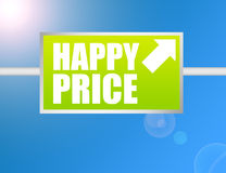 Happy price sign Royalty Free Stock Images