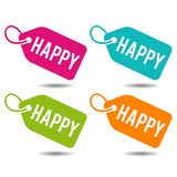 Happy price Tags. Flat Eps10 Vector Illustration. Business price tags Royalty Free Stock Photo
