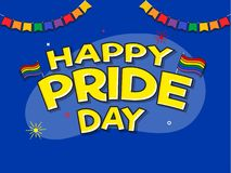 Happy Pride Day concept with rainbow colors. vector illustration