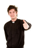 Happy priest Royalty Free Stock Image