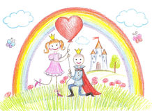 Happy princess from a fairy tale Royalty Free Stock Images