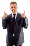 Happy professional with thumbs up Stock Image