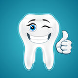 Happy protected human teeth Royalty Free Stock Photography