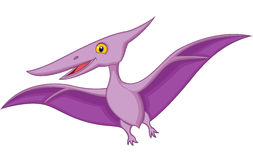 Happy cartoon pterodactyl Royalty Free Stock Images