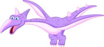 Happy pterodactyl cartoon. Illustration of happy pterodactyl cartoon Royalty Free Stock Photos