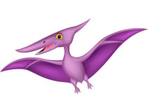 Happy pterodactyl cartoon Royalty Free Stock Photos