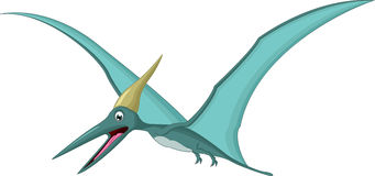 Happy pterodactyl cartoon Stock Photos