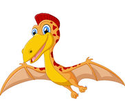 Happy pterodactyl cartoon Stock Photography