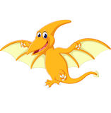 Happy pterodactyl cartoon Stock Images