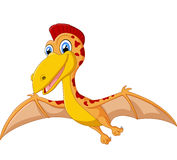 Happy pterodactyl cartoon illustration Royalty Free Stock Images