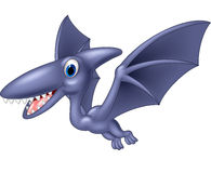 Happy pterodactyl cartoon Royalty Free Stock Images