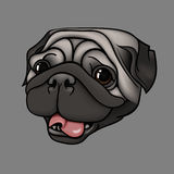 Happy pug Royalty Free Stock Images