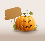 Happy Pumpkin Banner Stock Photo