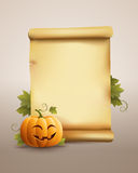 Happy Pumpkin banner Stock Images