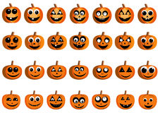 Happy pumpkin faces. Illustration of happy pumpkin faces for Halloween Royalty Free Stock Photography