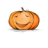 Happy pumpkin. Illustration of a pumpkin with a happy face Royalty Free Stock Photography