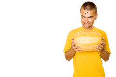 Happy Pumpkin Man Stock Photography