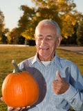 Happy Pumpkin Man Stock Image
